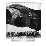 World War I: Airship Shower Curtain