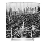 World War I Barbed Wire Shower Curtain