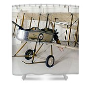 World War I: British Plane Shower Curtain