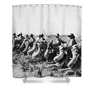 World War I: Camel Corps Shower Curtain
