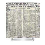 World War I: Declaration Shower Curtain