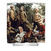 World War I: French Troops Shower Curtain