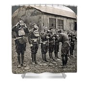 World War I: Gas Masks Shower Curtain
