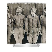 World War I: Gas Warfare Shower Curtain