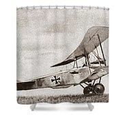 World War I: German Biplane Shower Curtain