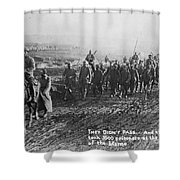 World War I: German Pows Shower Curtain