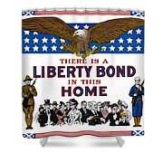 World War I Liberty Bond Ad Shower Curtain by Granger