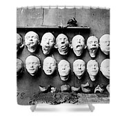 World War I Masks, 1918 - To License For Professional Use Visit Granger.com Shower Curtain