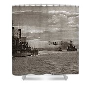 World War I: Naval Fleet Shower Curtain