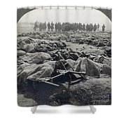 World War I: Russian Dead Shower Curtain
