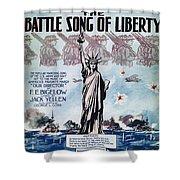 World War I: Song Sheet Shower Curtain
