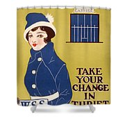 World War I: Thrift Stamps Shower Curtain
