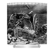 World War I: U.s. Artillery Shower Curtain
