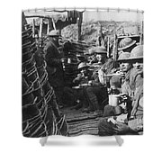 World War I: U.s. Troops Shower Curtain