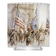 World War I: Victory Parade Shower Curtain