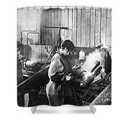World War I: Women Workers Shower Curtain