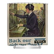 World War I Ywca Poster Shower Curtain