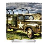 World War II Army Truck Shower Curtain