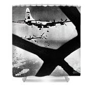 World War II B-29 1945 Shower Curtain