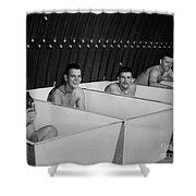 World War II Bath Time For Guys Shower Curtain