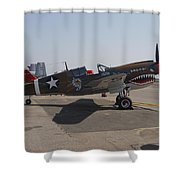 World War II Plane P-40 Thunderbolt Shower Curtain