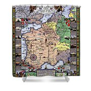 World War One Historian's Panel Shower Curtain