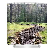 World War One Trenches Shower Curtain