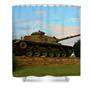World War Two Tank Shower Curtain