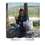 Worldly Posessions Shower Curtain