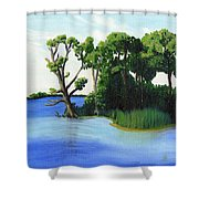 Worlds Away Off The Wye River Shower Curtain
