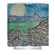 Worlds Away Shower Curtain