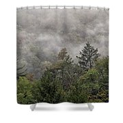 Worlds End State Park Fog Shower Curtain