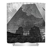 World's Largest Canvas John Hancock Tower Boston Ma Black And White Shower Curtain
