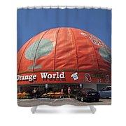 World's Largest Orange Shower Curtain
