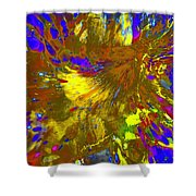 Wormhole Channel Shower Curtain