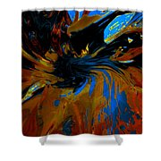 Wormhole Rupture Shower Curtain
