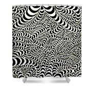 Wormholes Shower Curtain