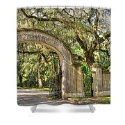 Wormsloe Gate Shower Curtain