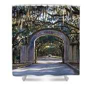 Wormsloe Gates Shower Curtain