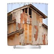 Worn Down Shower Curtain