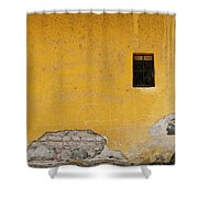 Worn Wall Shower Curtain