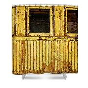 Worn Yellow Passanger Car Shower Curtain