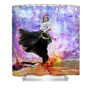 Worship Warrior Shower Curtain