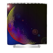 Worshiped Moon Shower Curtain