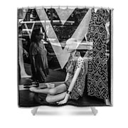 Worth Ave Reflections 0487 Shower Curtain