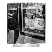 Worth Ave Reflections 0488 Shower Curtain