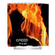 worthy of HELL fire Shower Curtain