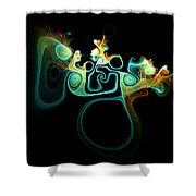 Wot's Going On In Ear Shower Curtain
