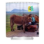 Would You Like A Ride In Ireland Shower Curtain
