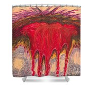 Wounded Shower Curtain
